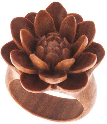 #steelnavel.com           #ring                     #Urban #Star #Organics: #Sabo #Wood #Small #Water #Lily #Finger #Ring #RWS08  Urban Star Organics: Sabo Wood Small Water Lily Finger Ring - RWS08                                     http://www.seapai.com/product.aspx?PID=764713