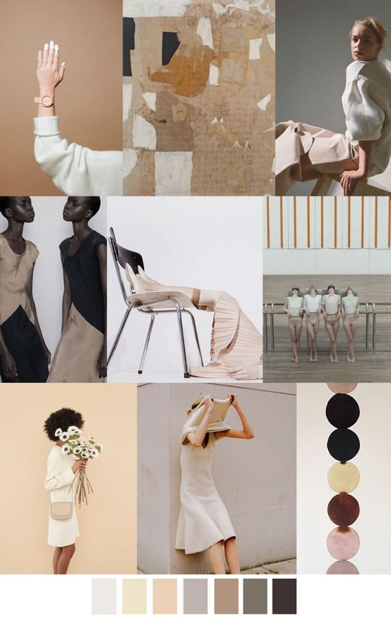 Personal style vision board. A colour theme is an artistic way  to display concepts and ideas.