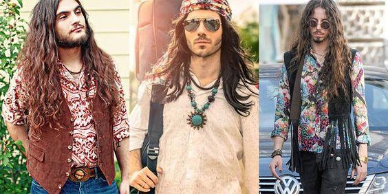 modern hippie men