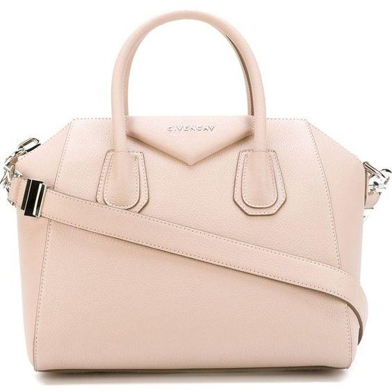 Givenchy small 'Antigona' tote (€1.700) ❤ liked on Polyvore featuring bags, handbags, tote bags, handbags totes, givenchy, givenchy handbags, pale pink tote y zip top tote bag