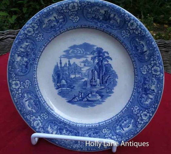 Antique Blue Transfer Ware Plate Medina by 4HollyLaneAntiques, $82.00