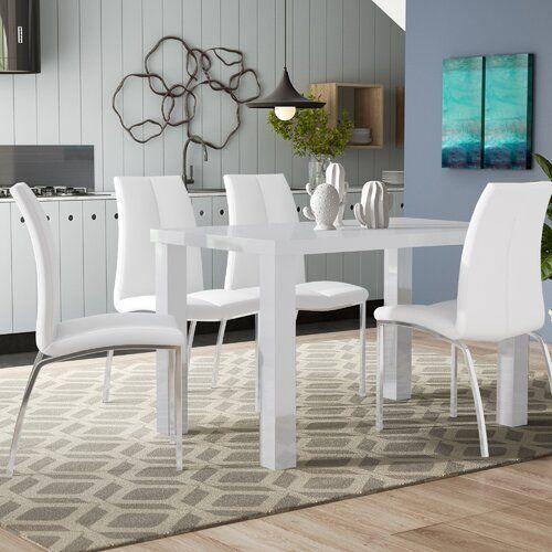 Petegem Dining Set With 4 Chairs Metro Lane Colour Table Light