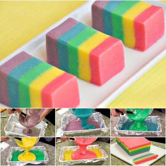 No Bake Rainbow Fudge