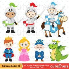 Princess Clipart Princess Clip Art Knight Clipart by Cutesiness