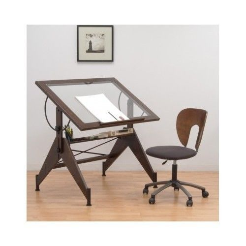 drafting table desk drawing office furniture glass adjustable studio art vintage art drawing office