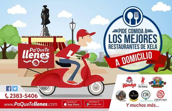 PaQueTeLlenes es un servicio para pedir comida vía app, web o telefono con varias opciones.
