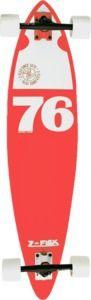 "Spirit of '76  Year my parents were married.    Z-Flex 76 Logo Red Complete Longboard Skateboard - 9"" x 38"""