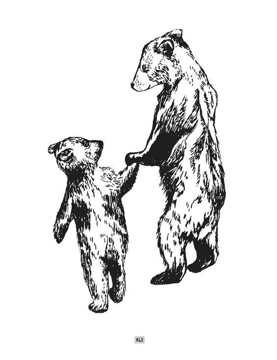 N&B Bears Print