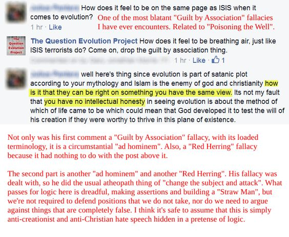 Creationist logical fallacies critical thinking