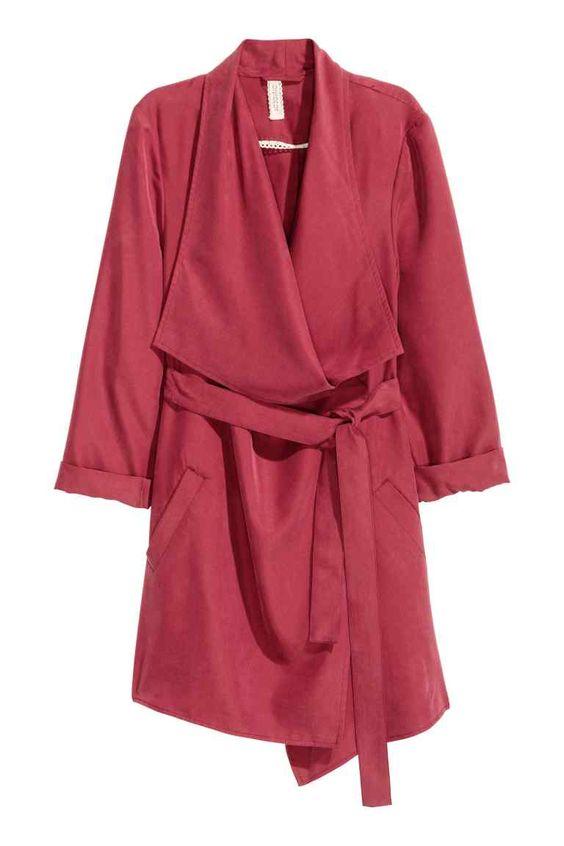 Manteau en lyocell mélangé: CONSIOUS. Manteau court en doux tissu de lyocell…