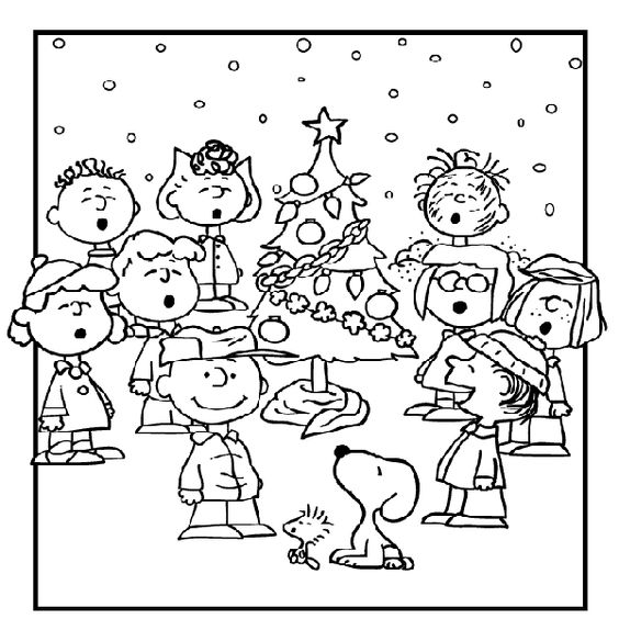 Christmas coloring pages charlie brown charlie brown for Charlie brown christmas coloring page