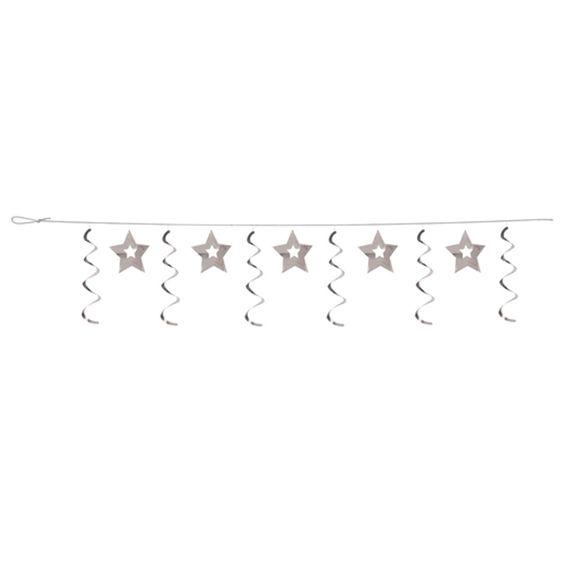 Silver Stars Dizzy Dangler Garland 12/Case of 6
