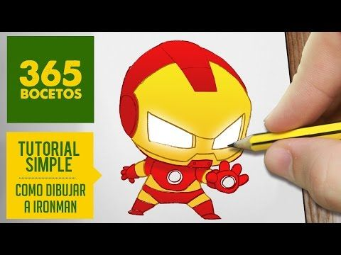 COMO DIBUJAR IRONMAN KAWAII PASO A PASO , Kawaii facil , How to draw Ironman ,