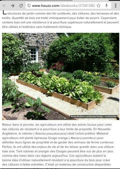 Encadrements en cèdre pour parcelle de jardinage