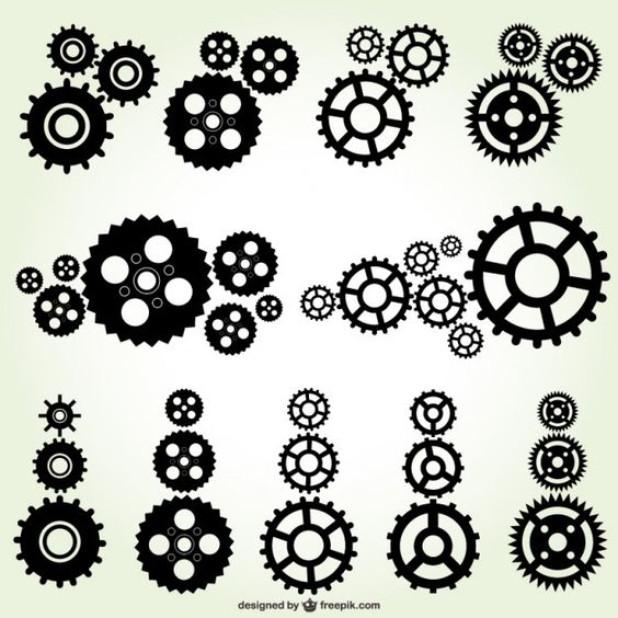 Bike gears clipart vector vector bicycle gear pictures to pin on - Dibujos Engranajes De Reloj Buscar Con Google Dibujo