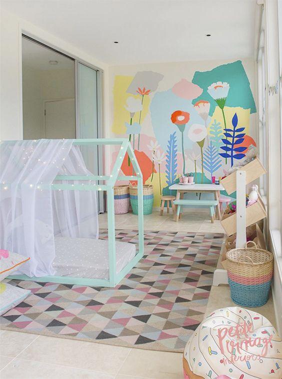 Decoração e Quarto Montessoriano House, Criança e Pisos ~ Quarto Montessoriano Tapete