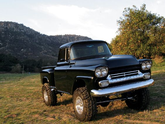 chevy apache chevy and x  1958 chevy apache suicide doors too check the link great attention to detail