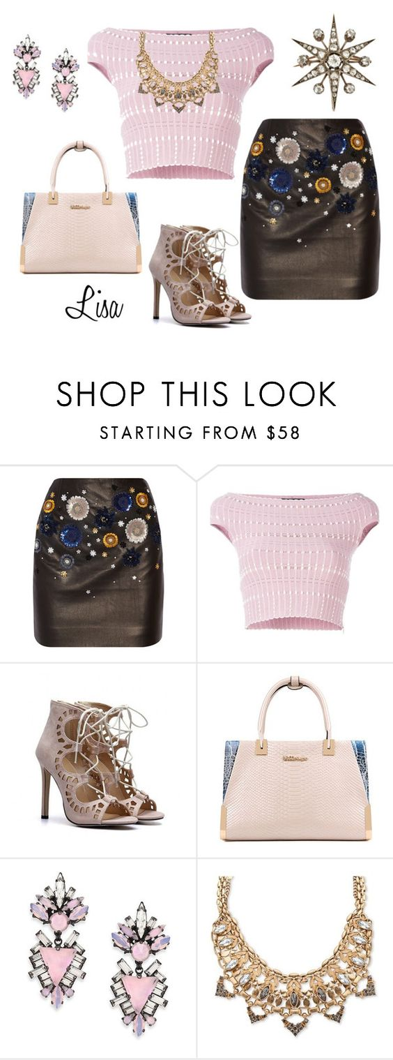 """""""Sweet Emotions"""" by coolmommy44 ❤ liked on Polyvore featuring Topshop Unique, Alexander McQueen, Erickson Beamon, Palm Beach Jewelry, Leather and leatherskirt"""