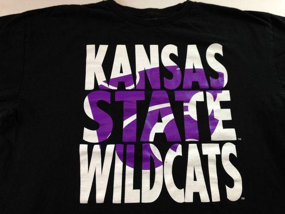 Kansas State Wildcats T-Shirt Mens XL Big Letters Black White Purple Cotton Tee http://www.ebay.com/itm/Kansas-State-Wildcats-T-Shirt-Mens-XL-Big-Letters-Black-White-Purple-Cotton-Tee-/262455758634?roken=cUgayN&soutkn=Zi3hib #bogo #ksu #ebay #big12 #kstate