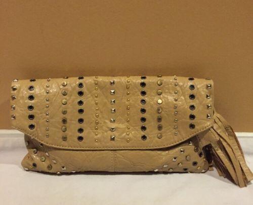 Big-Buddha-Jacqueline-faux-Leather-Studded-Clutch-Bag ebay $35
