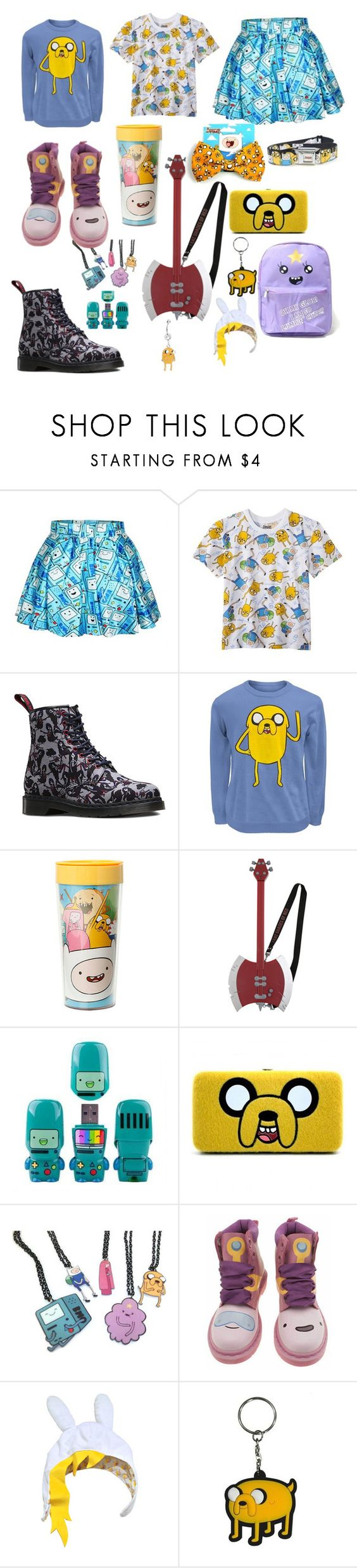 """""""Adventure Time"""" by chiara-calcagno ❤ liked on Polyvore featuring Dr. Martens"""