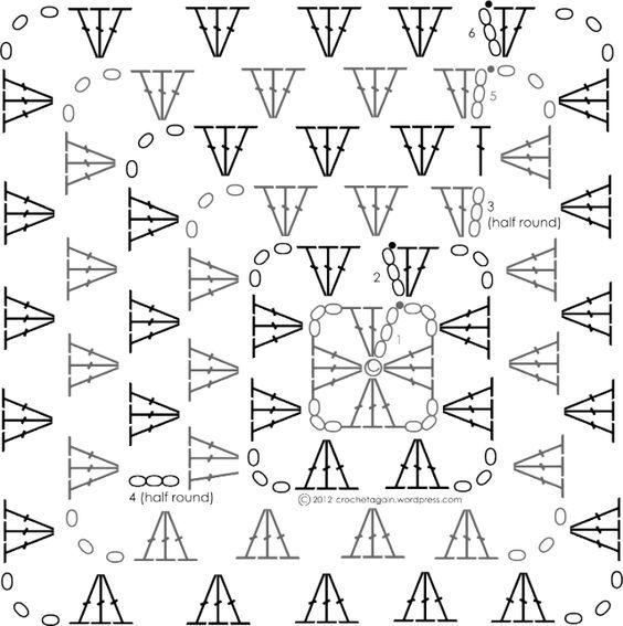 Off Centered Granny Square - Diagram <3: