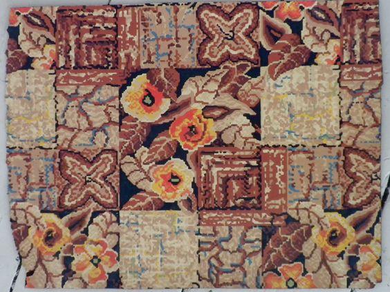 Retro Linoleum Flooring | Linoleum found in the closet of 1795 colonial in New Ipswich, New ...