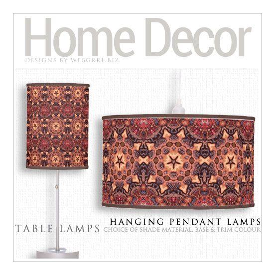 ChocChip Earthy Tribal Batik Lamp #homedecor