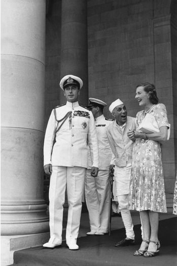 Nehru and Lord Mountbatten