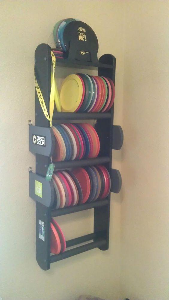 Home disc golf shelf