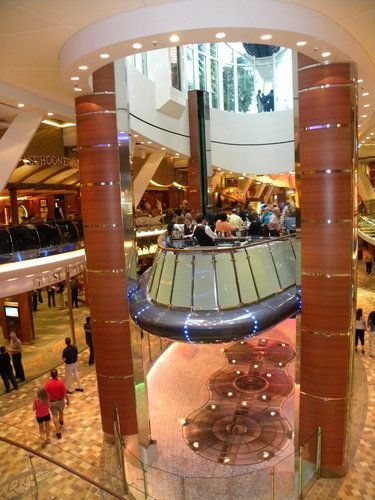 Oasis of the seas lounges and bars elevator columns for Elevator grab bars