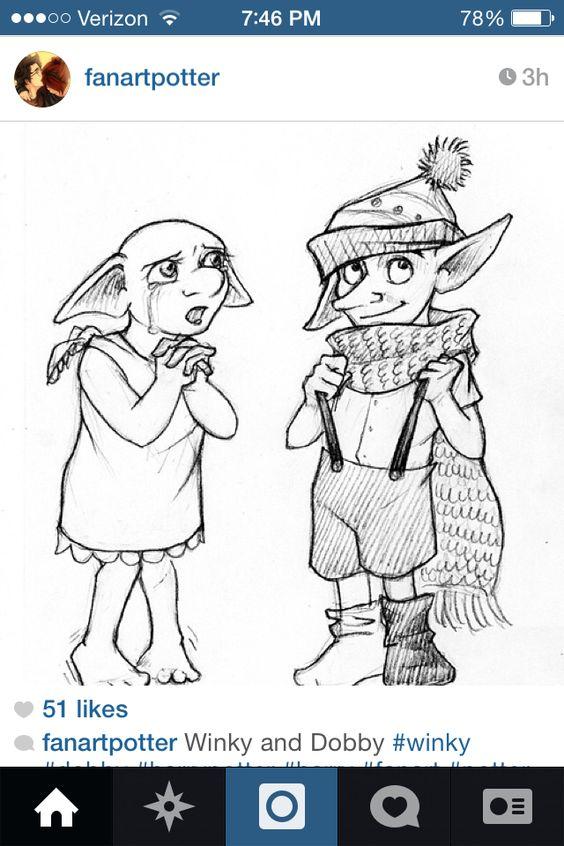 Book Dobby And Winky Harry Potter Art Deathly Hallows Potterhead