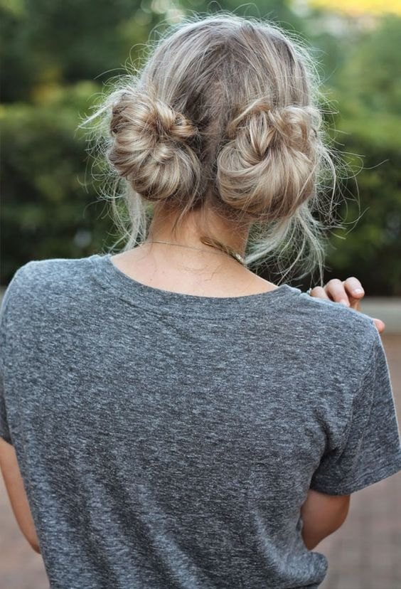 Double Hair Bun Blonde