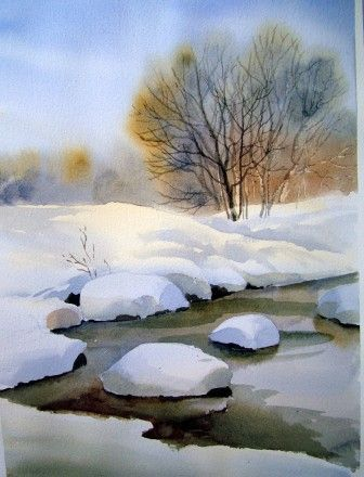 Akvareller Aud Rye Watercolor Watercolorarts Peinture Paysage