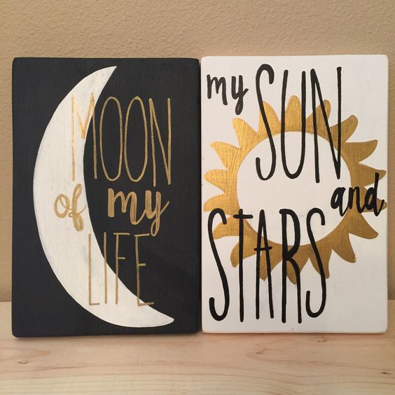Moon of my life - Sun and Stars - game of thrones -wall art - wood sign - house targaryen - khaleesi and drogo qoute by QuirkyOwlCreations on Etsy https://www.etsy.com/listing/255115394/moon-of-my-life-sun-and-stars-game-of