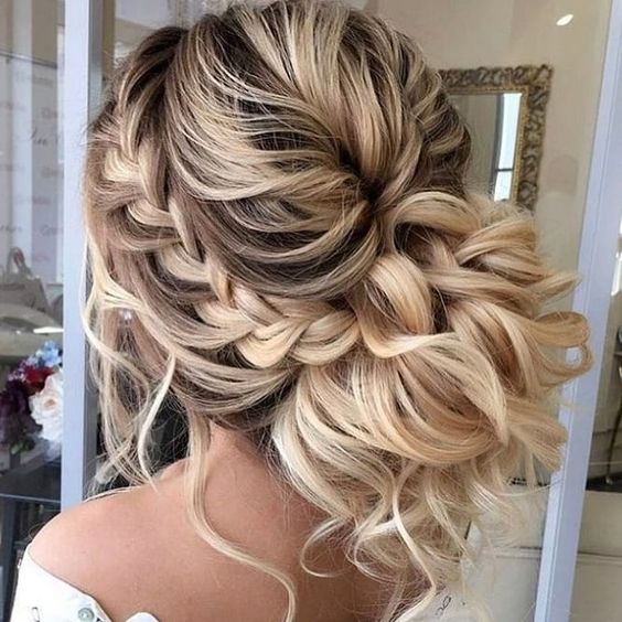 wedding braided hairstyle