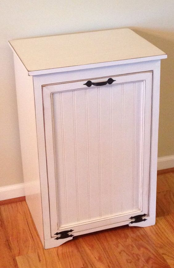 Trash Can Cabinet Cabinets And Pet Food Storage On Pinterest