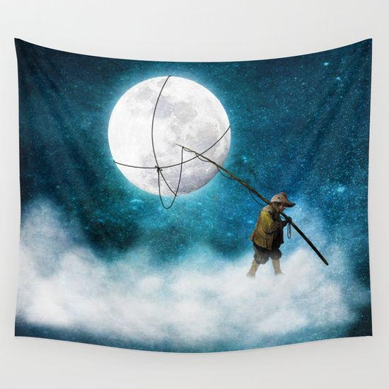 Moonwalk+Wall+Tapestry+by+Diogo+Verissimo+-+$39.00