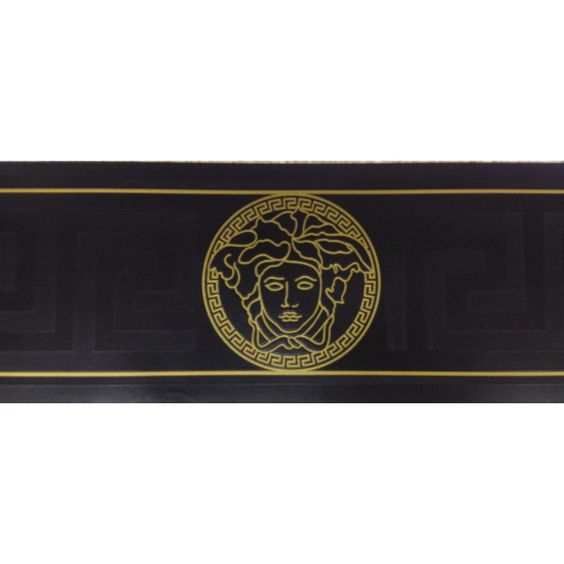 Versace Home Greek Key Black and Gold Luxury Wallpaper