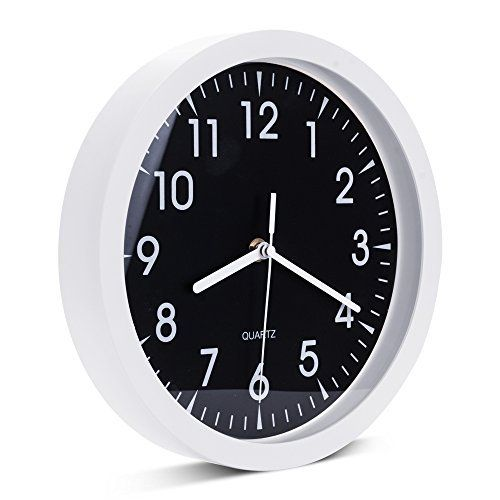 10 Inches Indoor Outdoor Metal Small Round Wall Clock Decorative Non Ticking Quartz Modern Home Decor By Egundo Round Wall Clocks Clock Rustic Clock