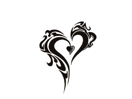 Tribal+Tattoo | Free designs - Tribal heart tattoo wallpaper