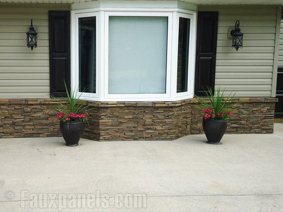 Exterior Homes With River Rock Accents Stacked Stone Earth Random Rock Earth Dry Stack
