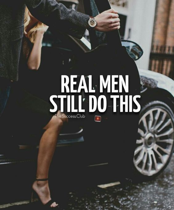 "Gentlemen:  #Gentlemen's style ~ ""Real men still do this."":"