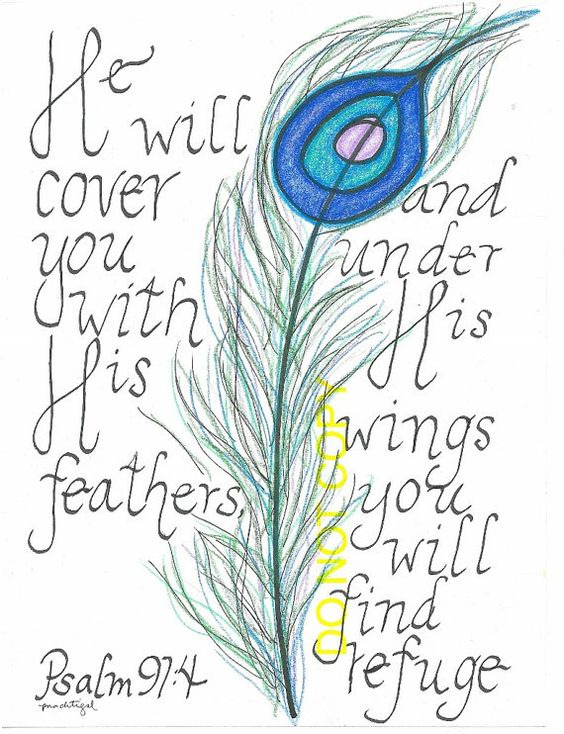 Psalm 91.4 word art by guitarmom on Etsy, $20.00