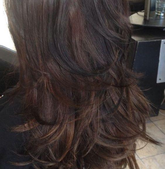 dark brown hair with black lowlights hair pinterest