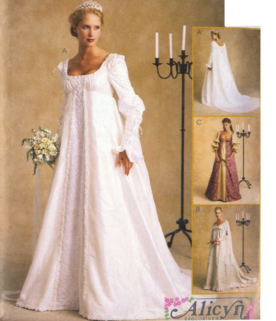 Ever After Renaissance Bridal Wedding Gown or Costume Pattern ...