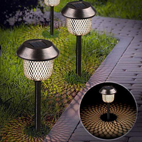 Xddias Lot De 6lampes Solaires Etanches Pour Le Jardin En Acier Inoxydable Decoration A Led Pour Exterieur Terra En 2020 Decoration Jardin Decoration Jardins