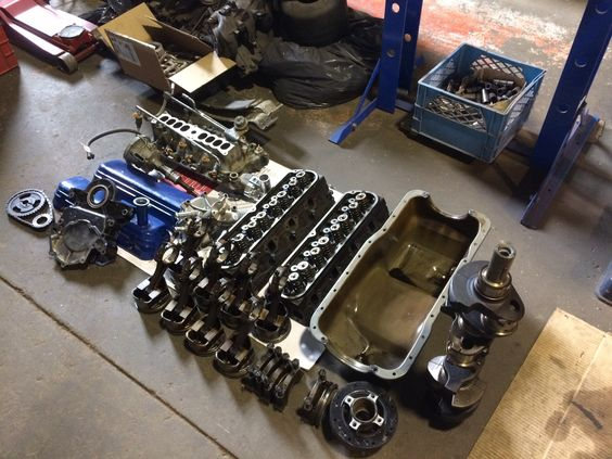 Ford 302 disassembled.