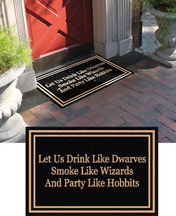 DUDE! 2 X 3 - Let Us Drink Like Dwarves - Write Your Own Mat housewarming gift, realtor closing gift,or a unique personalized gift