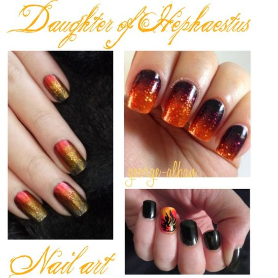 Daughter of Hephaestus - Nail art by george-alban on Polyvore